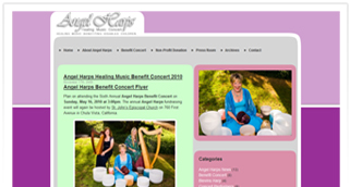 non-profit website design of angel harps