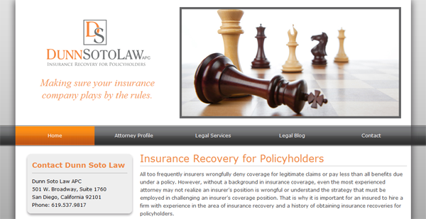 Dunn Soto Law Insurance recovery for Policy Holders